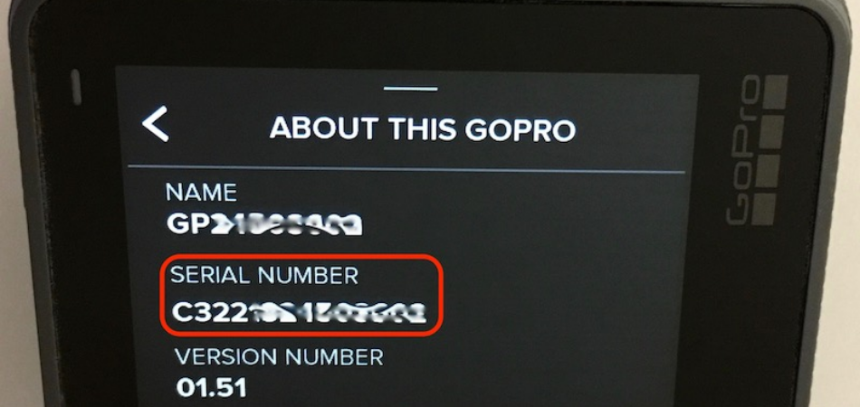 How to Check GoPro Serial Number